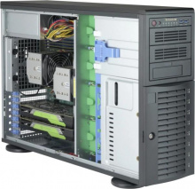 "Case Supermicro CSE-743AC-1200B-SQ - Tower/4U Rack, 1200W, 8x3.5""HDD HS SAS3/SATA, 2x5.25"", 1x3.5"""