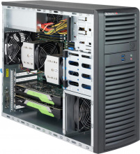 "Case Supermicro CSE-732D3-1200B - Mid-Tower, 1200W, 4x3.5"" fix HDD SAS/SATA, 2xUSB + 2x Audio Front"