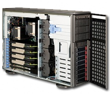 "Case Supermicro CSE-747TQ-R1K28B - Tower/4U, 2x1280W, 8x3.5"" HDD Hot-swap SAS/SATA, 3x5.25"""