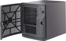 "Case Supermicro CSE-721TQ-250B2 - Mini-Tower, Mini-ITX, 250W, 4x3.5"" Hot-Swap HDD + 2x2.5"" int.HDD"