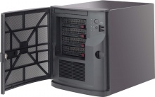 "Case Supermicro CSE-721TQ-250B - Mini-Tower, Mini-ITX, 250W, 4x3.5"" Hot-Swap HDD + 2x2.5"" int.HDD"
