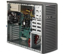 "Case Supermicro CSE-732I-R500B - Mid-Tower, E-ATX, 2x500W, 4xHDD Fixed, 2x5.25"", 193*424*526mm"