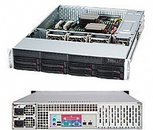 "Case Supermicro CSE-825TQ-R740LPB - 2U, 2x740W, 8x3.5"" HDD HS SAS/SATA, with LP card, RMKit"